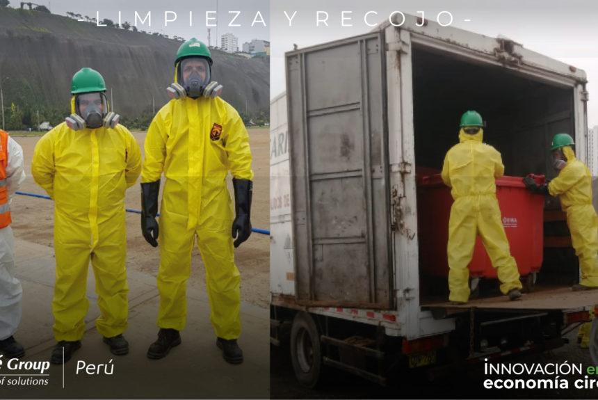 COSTA VERDE | Séché Group Perú realizó la limpieza de residuos peligrosos encontrados en la zona